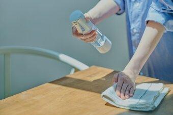 テーブルの除菌・消臭